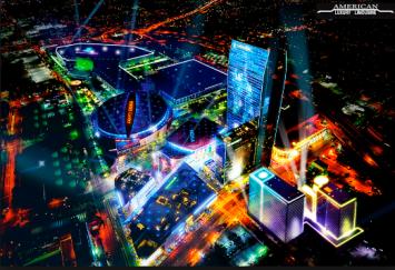Downtown-LA-limo-and-limos-for-rent-Los-Angeles-LA-Live-complex
