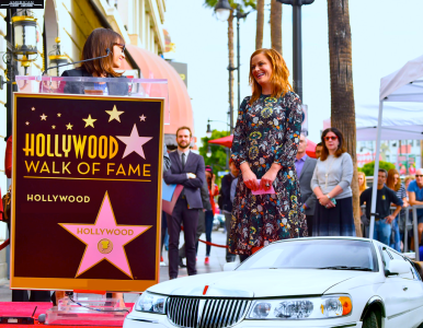 the-Hollywood-Walk-of-Fame-with-LA-limo-services-red-carpet-American-Luxury-Limousine-in-2016
